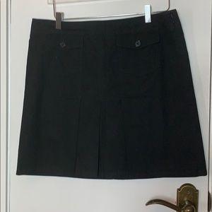 Ann Taylor black pleaded skirt size 12